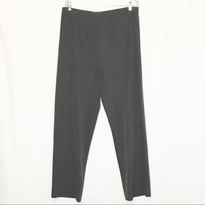 Misook gray casual knit straight leg pants